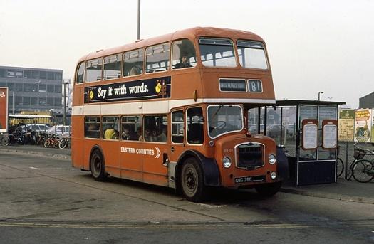 Eastern_Counties_NBC_bus_LS126_Bristol_Lodekka_ECW_GNG_125C_in_Cambridge,_Cambridgeshire_15_January_1980